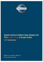 Smart Thing: Poster of BASF Toastmasters