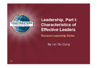 Characteristics of Effective Leaders Slides